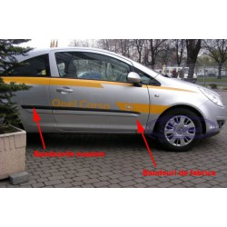 Bandouri laterale Opel Corsa D 3usi (F18)