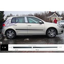 Bandouri laterale VW Golf 6 hatchback 5 usi 09.2008-2012 - F20